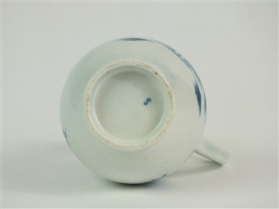 Lot 11-A Caughley porcelain 'Waiting Chinaman' sparrow-beak jug