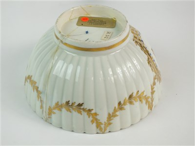 Lot 17-A Caughley polychrome fluted bowl