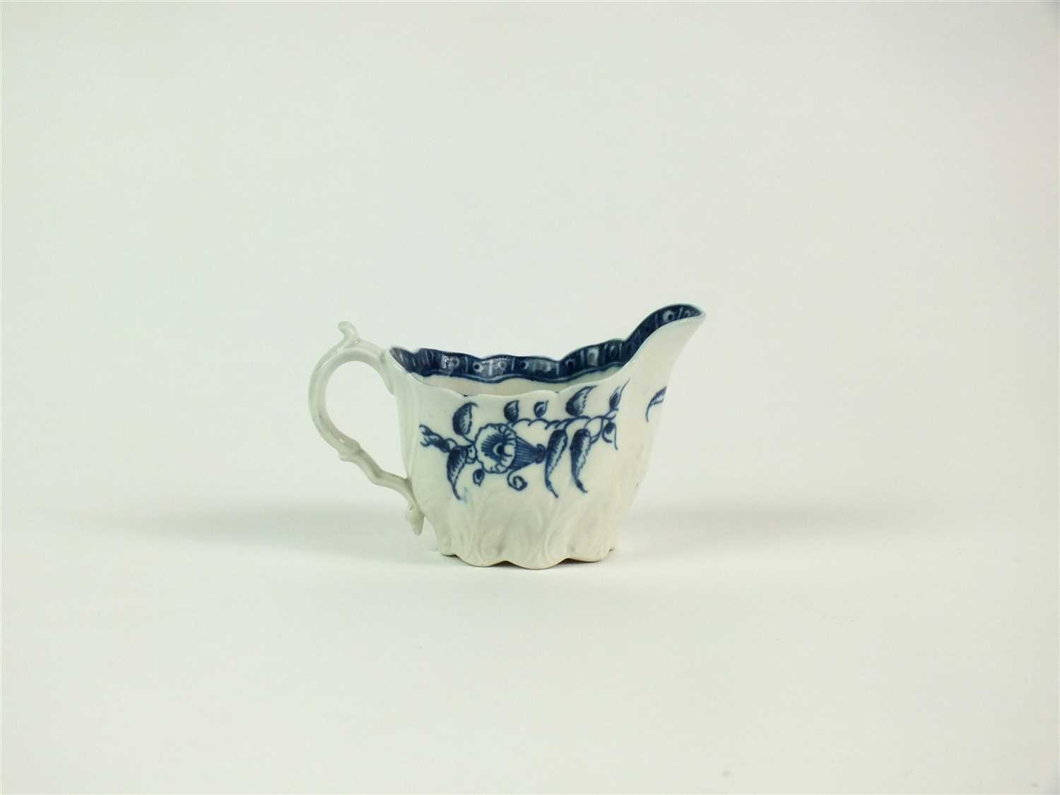 Lot 24-A Caughley Chelsea 'Convolvulus' ewer