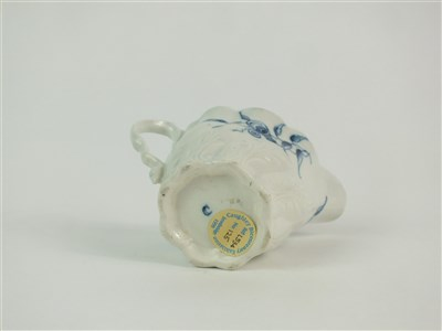 Lot 25-A Caughley 'Convolvulus' Chelsea ewer