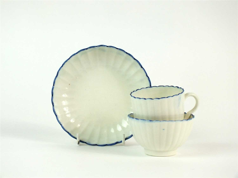 Lot 27-A Caughley porcelain trio