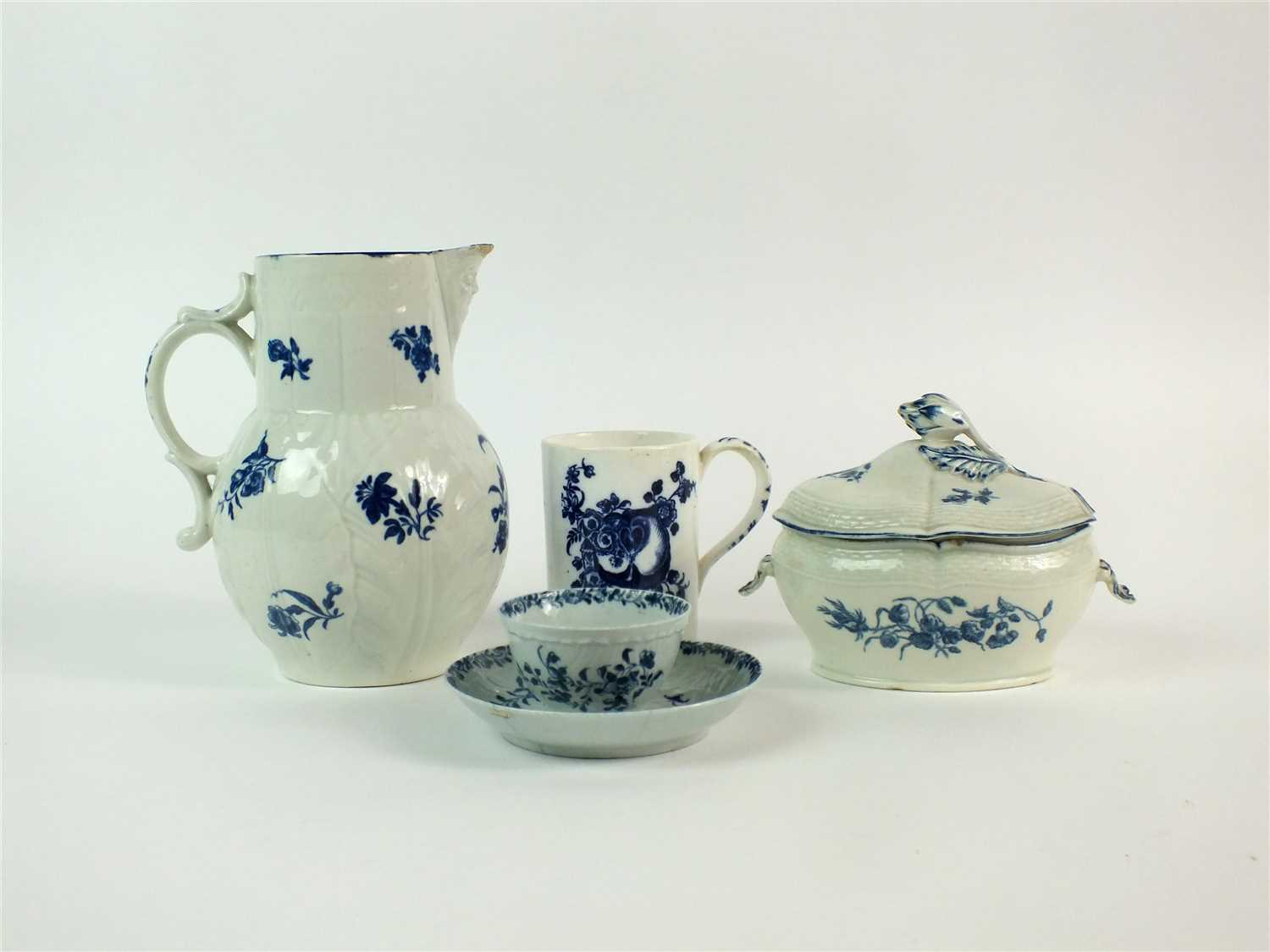 Lot 30-Group of English porcelain including Worcester