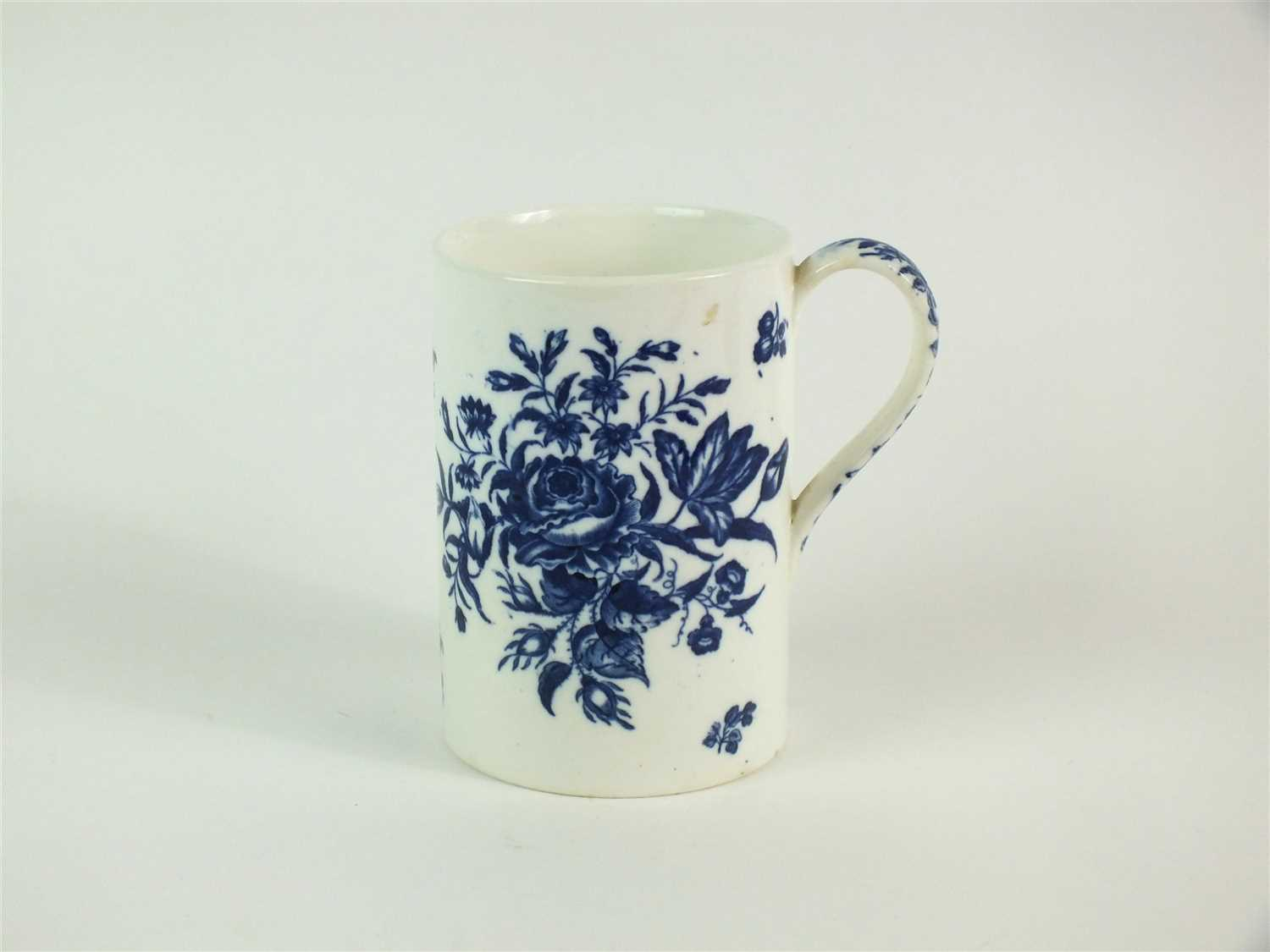 Lot 31-A large Coalport blue and white mug