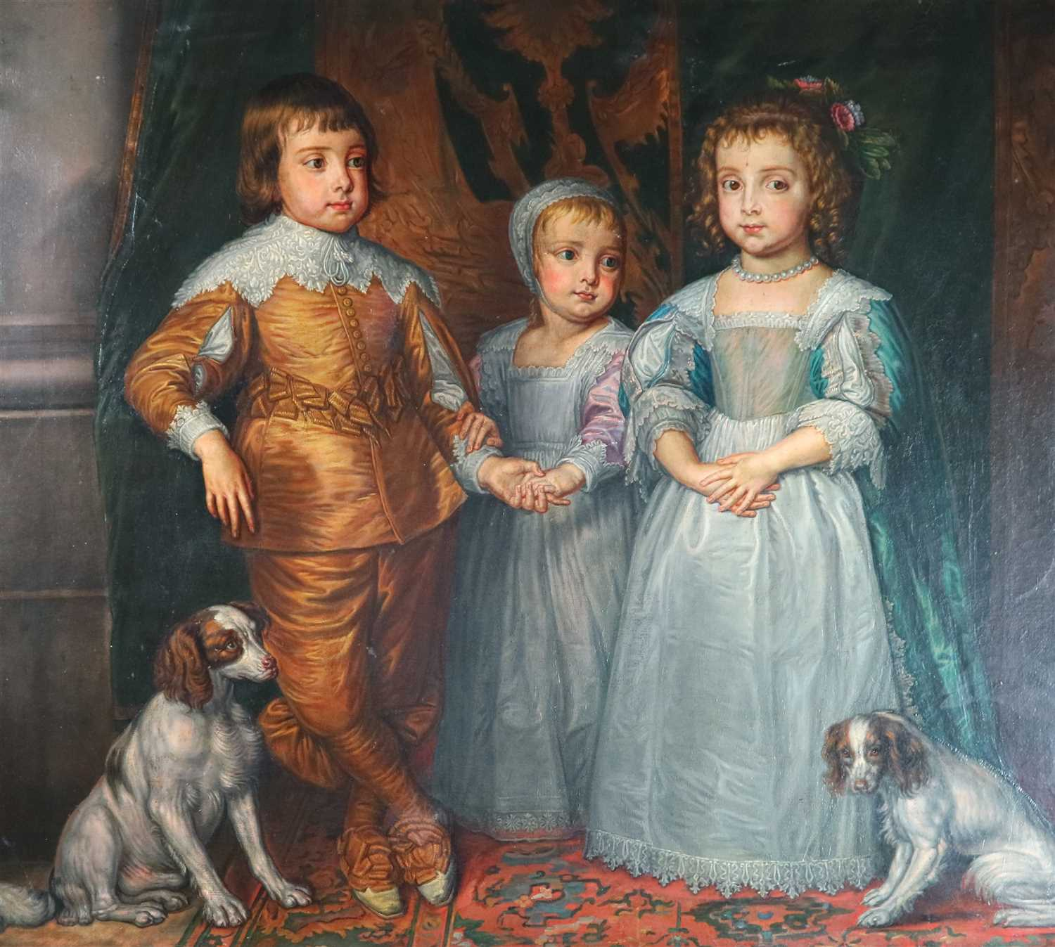 Lot 109-After Sir Anthony Van Dyck (1599-1641), The children of Charles I