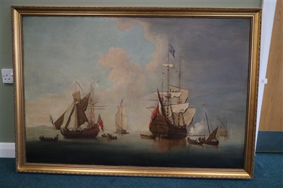 Lot 140 - British school, 18th century, marine scene