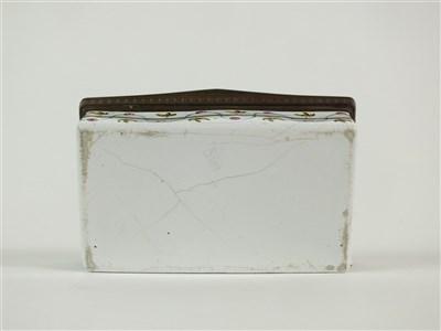 Lot 61-Three 18th century Staffordshire enamel boxes