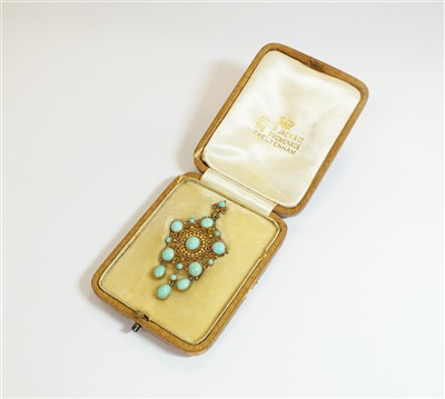Lot 37-A turquoise pendant