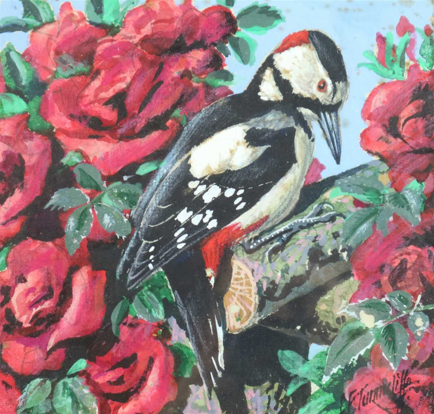 Lot 13-Charles Frederick Tunnicliffe (1901 - 1979), Woodpecker