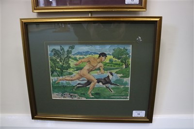 Lot 15-Charles Frederick Tunnicliffe (1901 - 1979), Running Man