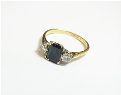 Lot 41-A sapphire and diamond ring