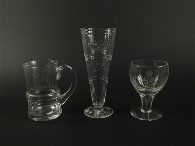 Lot 114 - Three English Coronation glasses
