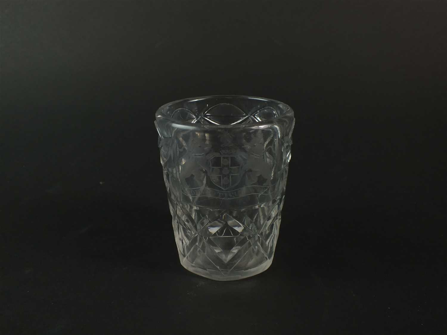 Lot 111-An 18th century glass tumbler