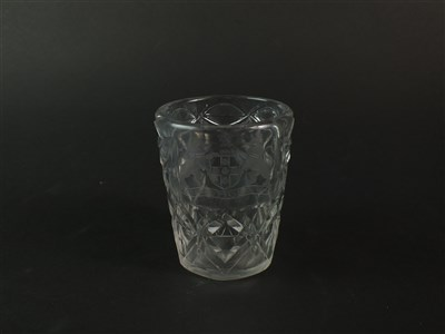 Lot 111 - An 18th century glass tumbler