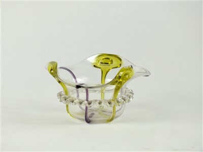 Lot 121 - A Stuart and Co Art Nouveau peacock bowl