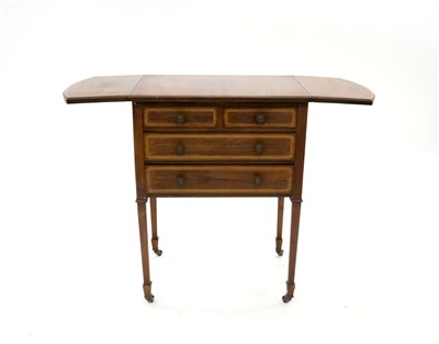 Lot 224-A small Edwardian mahogany side table