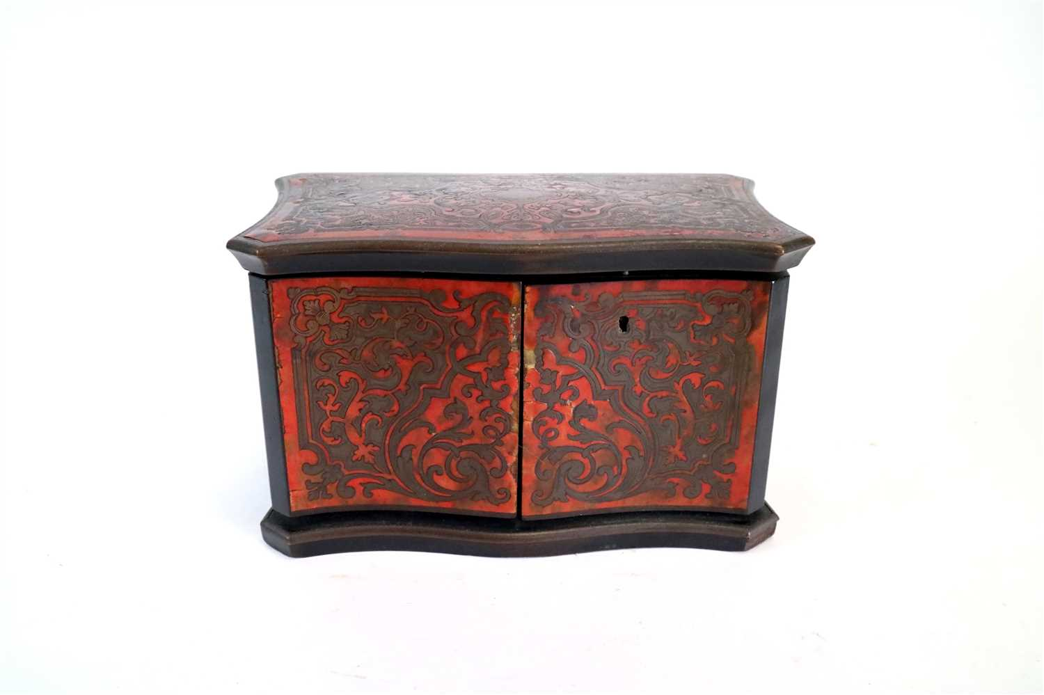 Lot 175-A 19th century inlaid boulle work tea caddy