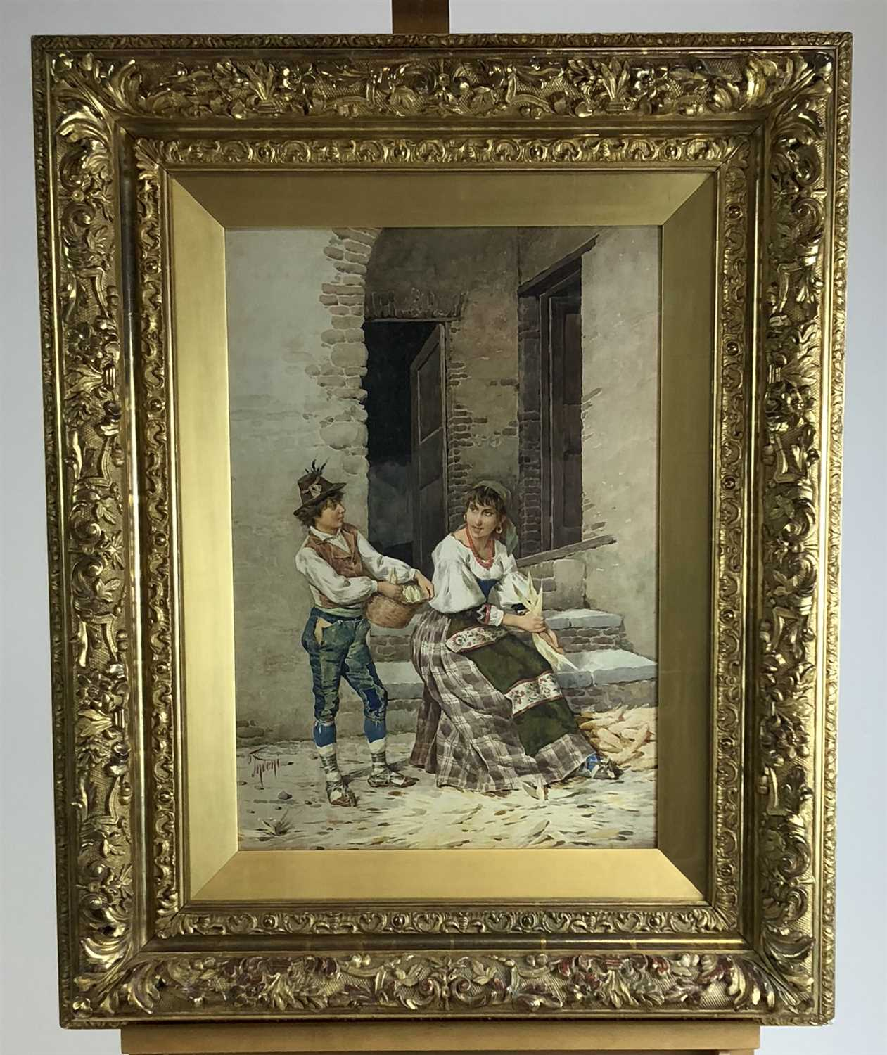 Lot 26-Fodoni, watercolour