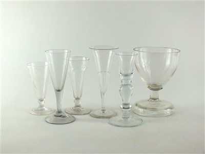 Lot 146 - Six 18th/19th century drinking glasses