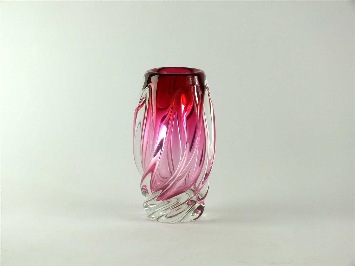 Lot 143-A Val St. Lambert glass vase