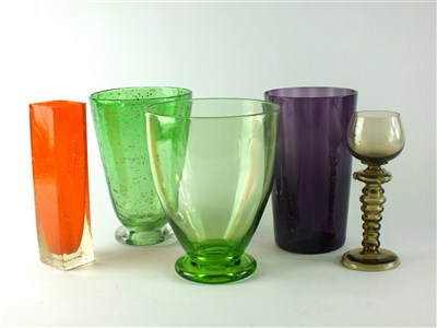 Lot 142-A group of Whitefriars glass