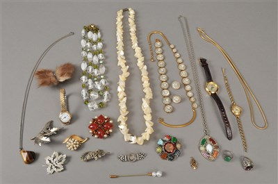 Lot 30-A collection of costume jewellery and watches