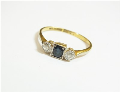 Lot 42-A sapphire and diamond ring