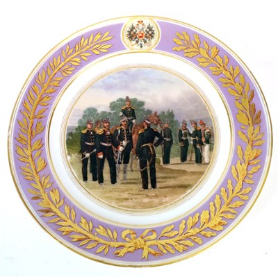 Lot 147 - A Russian Imperial Factory plate, St. Petersburg