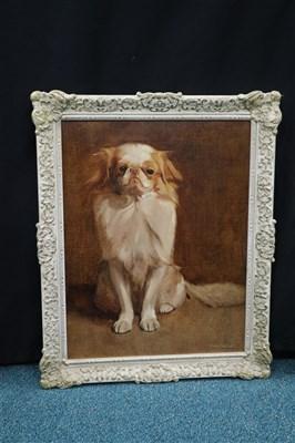 Lot 93 - Samuel Fulton, King Charles Spaniel Portrait, oil on canvas