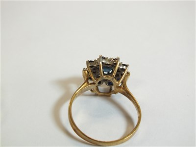 Lot 13-Two sapphire and diamond rings