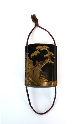 Lot 152 - A Japanese Meiji period four case lacquered inro
