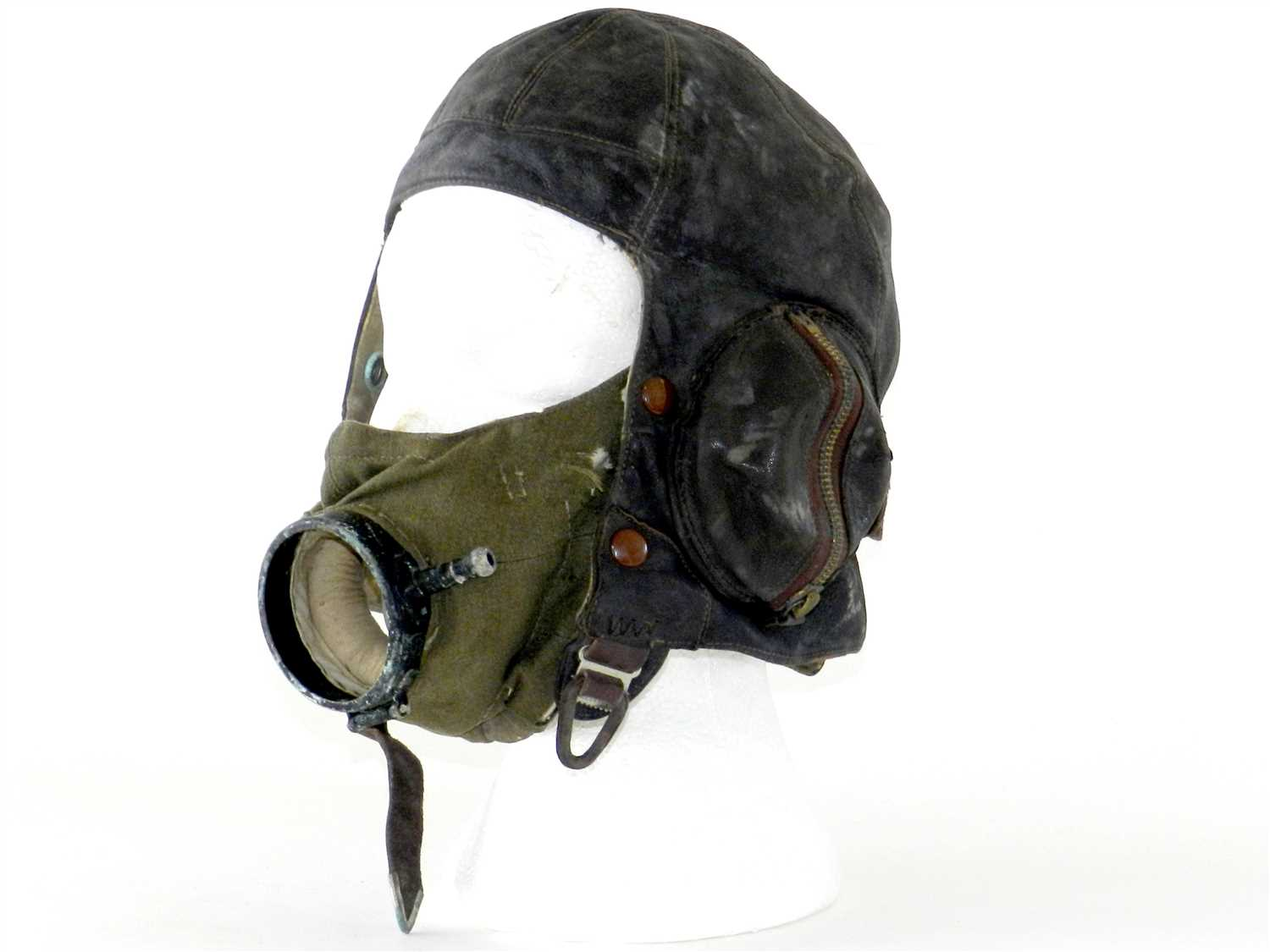 574 - A British Second World War R.A.F Flying Helmet by Frank Bryan LTD London & Worcester