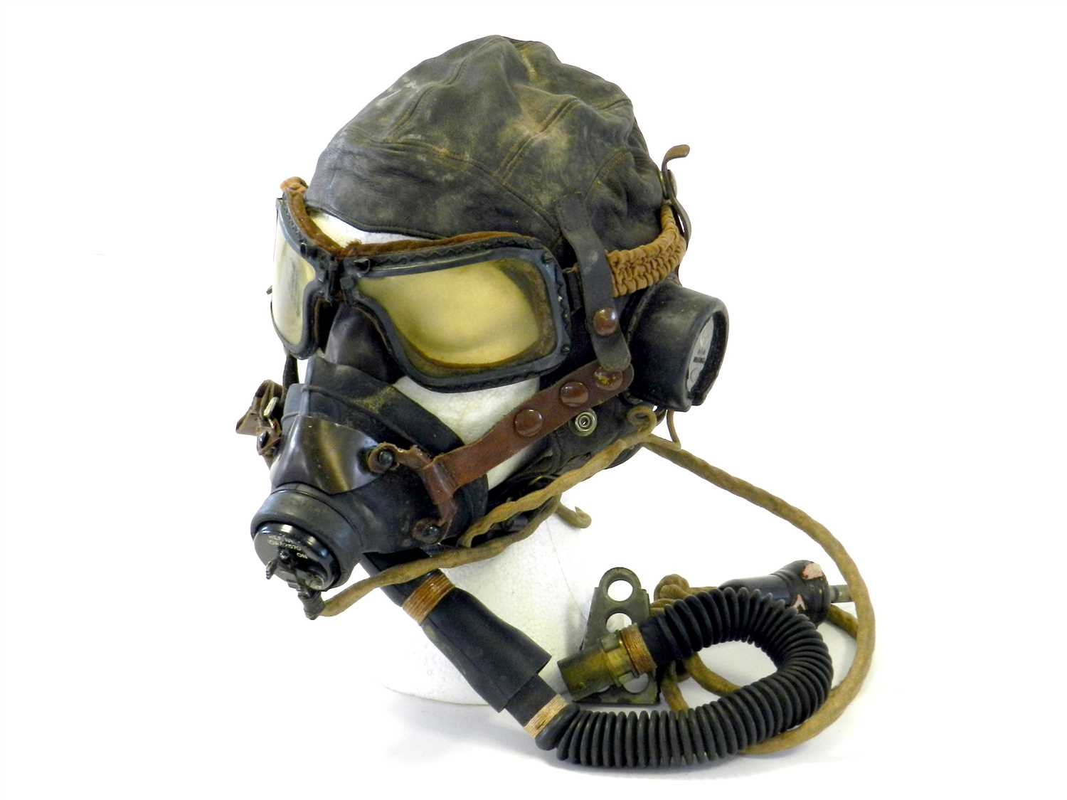 463 - British Second World War Type C flying helmet and goggles