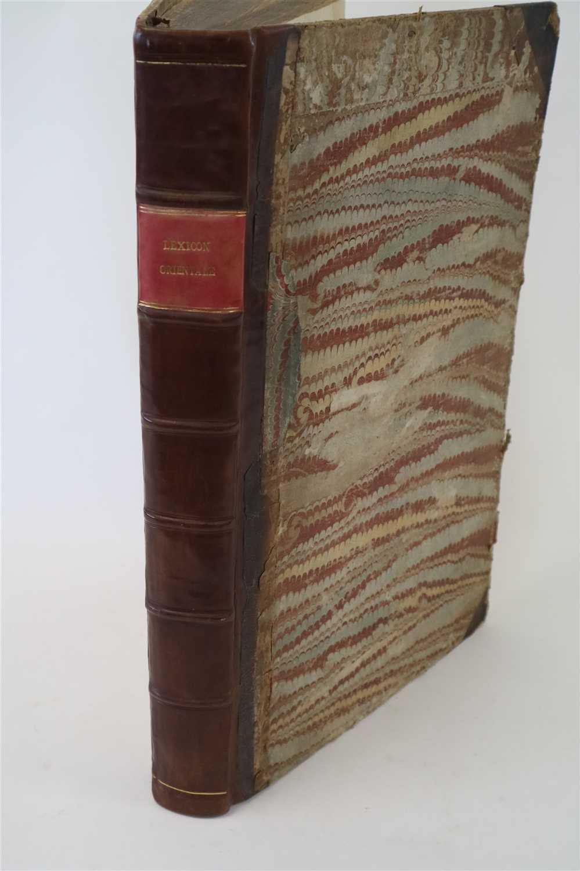 Lot 18-LEXICON ORIENTALE, folio, lacking title, half...