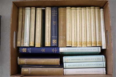 Lot 29-THE PLACE-NAMES OF THE WEST RIDING, 8 vols, with...