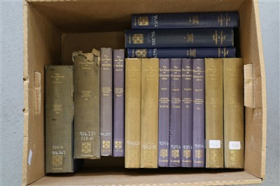 Lot 30-THE PLACE-NAMES OF GLOUCESTERSHIRE, 4 vols, with...