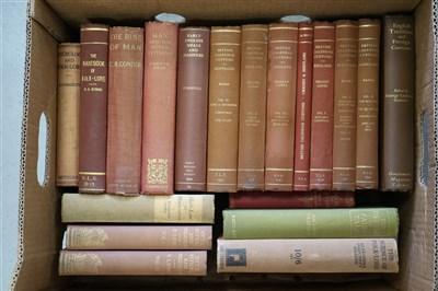Lot 40-FOLK-LORE. A quantity of books on Folk-Lore,...