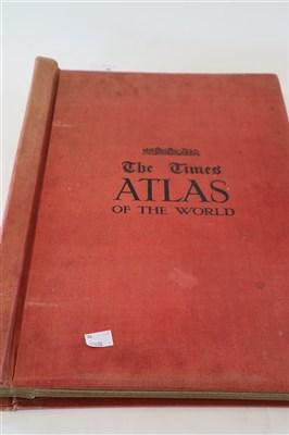 Lot 46-THE TIMES SURVEY ATLAS of the World. Folio, 1920, ...