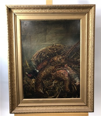 Lot 24-Dead game, oil on canvas