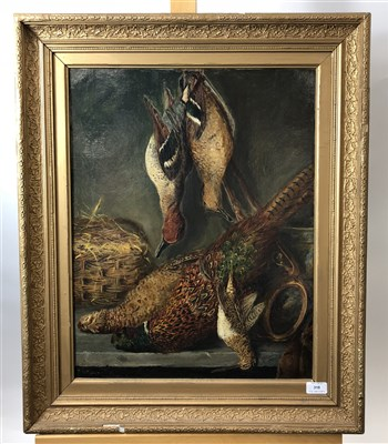 Lot 5-Gresley, dead game, oil on canvas