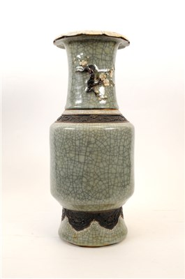 Lot 534-A 20 th century Chinese crackle glaze vase, of...