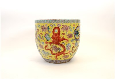 Lot 532-A Chinese porcelain nine dragon jardinière in the ...