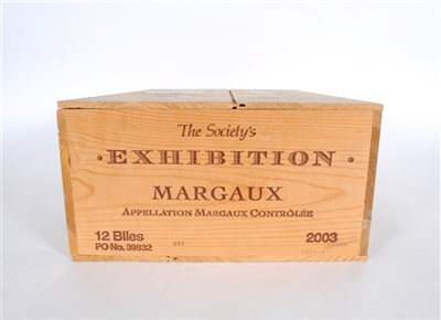 Lot 19-The Wine Society's Exhibition Margaux 2003 12...