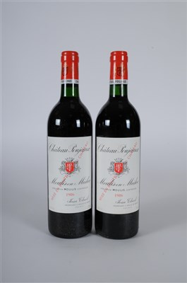 Lot 42-Chateau Poujeaux 1986 , 90/100 CT, 6 bottles all...