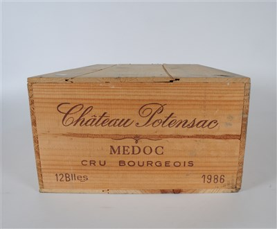 Lot 43-Chateau Potensac 1986 , 12 bottles owc   Recently ...