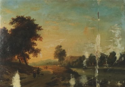 Lot 27-Attributed to Richard Wilson (1714-1782), River Landscape