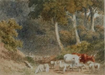Lot 32-Robert Hills RA (1769-1844), two watercolours