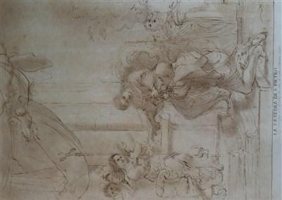 Lot 45-El Guercino (17th Century), La Catedra di S Pietro (The Cathedral of St. Peter)
