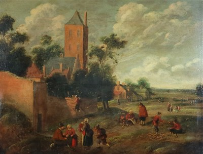 Lot 33-Attributed Joost Cornelis Droochsloot (1586-1666), A Village Scene