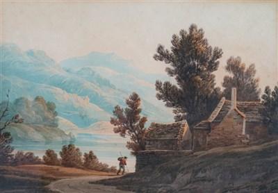Lot 35-John Varley (1778-1842), Vale of Llangollen