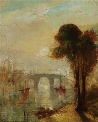 Lot 39-Follower of JMW Turner, Venetian Landscape